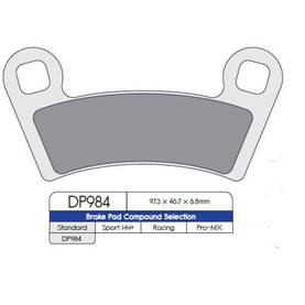 BRAKE PAD SINTERED DP984 - Jarrupalat - 874102 - 2