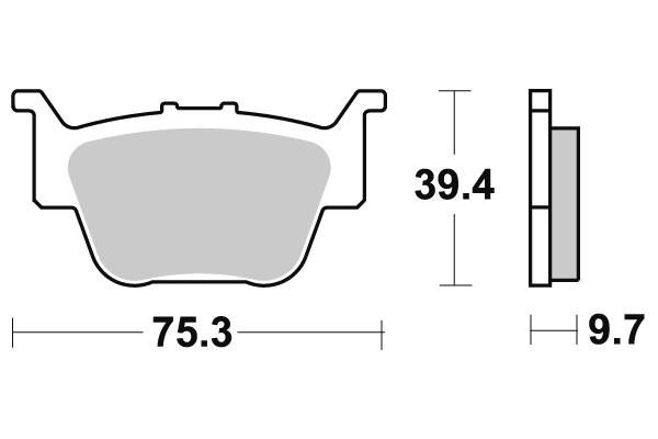 Jarrupalat taakse Honda TRX TRX 420, Rincon 650/680 03-16